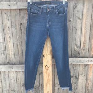 Flying Monkey Jeans - Flying Monkey Raw Step Hem Skinny Stretch Jeans